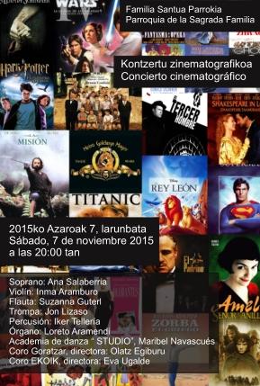 Cartel concierto cinematográfico