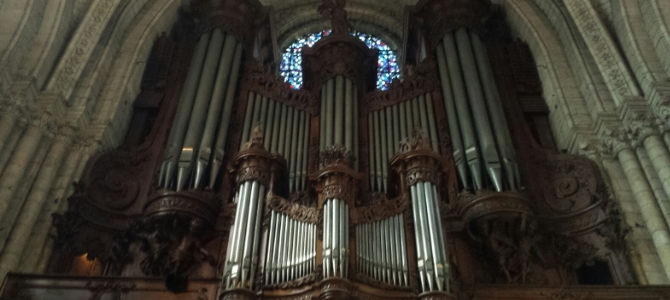 Organ Concert – Cathedral of  Angers – France – March 2016