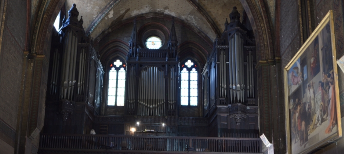 Concert at the Puget pipe organ (1880) – Notre dame du Taur church – Toulouse – April 2016