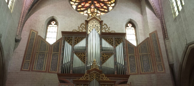 Concert at the Jurgen Ahrend organ – Augustins museum – Toulouse – June 2016