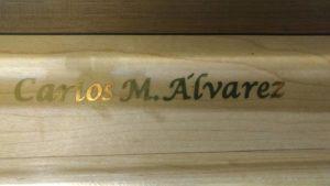 Firma - Órganero - Alvarez
