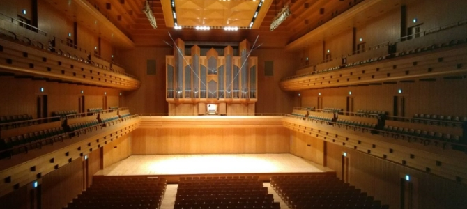 Concert at the Kuhn pipe organ (1997) – Tokyo Opera City Hall – April 2017