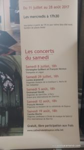 Affiche - Cycle d'orgue - Bayeux