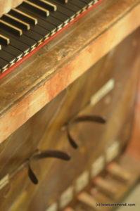 Órgano Barroco español - Villar de Cañas - Detalle Caja
