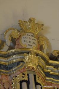 Órgano Barroco español - Villar de Cañas - Detalle Fachada