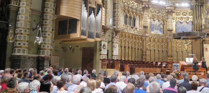Concert at the Blancafort (2010) pipe organ – Montserrat Abbey – June 2017