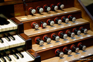 Spanish Aristide Cavaillé-Coll pipe organ - Stops- Basilica Santa Maria - San Sebastian - Basque country - Spain