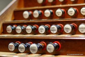 Spanish Aristide Cavaillé-Coll pipe organ - Stops- Basilica Santa Maria - San Sebastian - Basque country - Spain