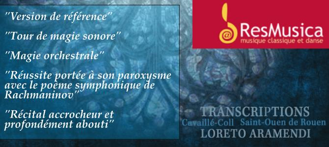 """Review by ResMusica of the double CD """"Transcriptions"""""""