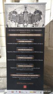 Cartel del ciclo de órgano, Murcia