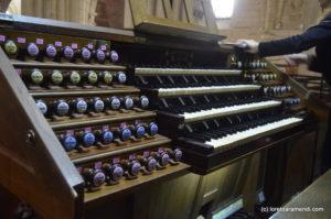 Consola del órgano Merklin, Murcia