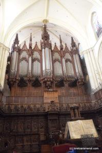 Fachada del órgano Merklin, Murcia