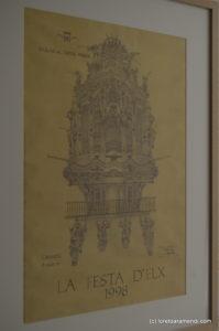 Dibujo del órgano de la Basílica de elche