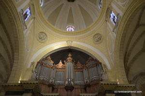 Parte trasera del órgano Merklin, Murcia