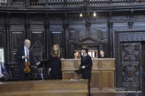 Loreto Aramendi, Pedro Miguel Aguinaga y Ana Salaberria