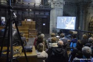 Projection sur écran - Concert d'orgue