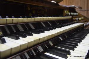 Teclados del órgano Merklin, Murcia