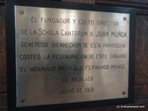 Órgano Cavaillé-Coll - San Vicente - Mensaje Fernando Prince