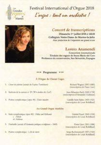 Concierto de Mantes la Jolie - Loreto Aramendi