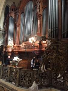 Fachada del órgano del Santísimo Sacramento en Buenos Aires