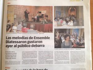 Ensemble Diatessaron - Deba - Crítica