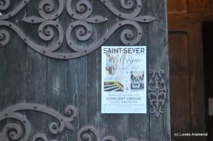 Saint Sever - órgano Cavaillé-Coll - Cartel concierto