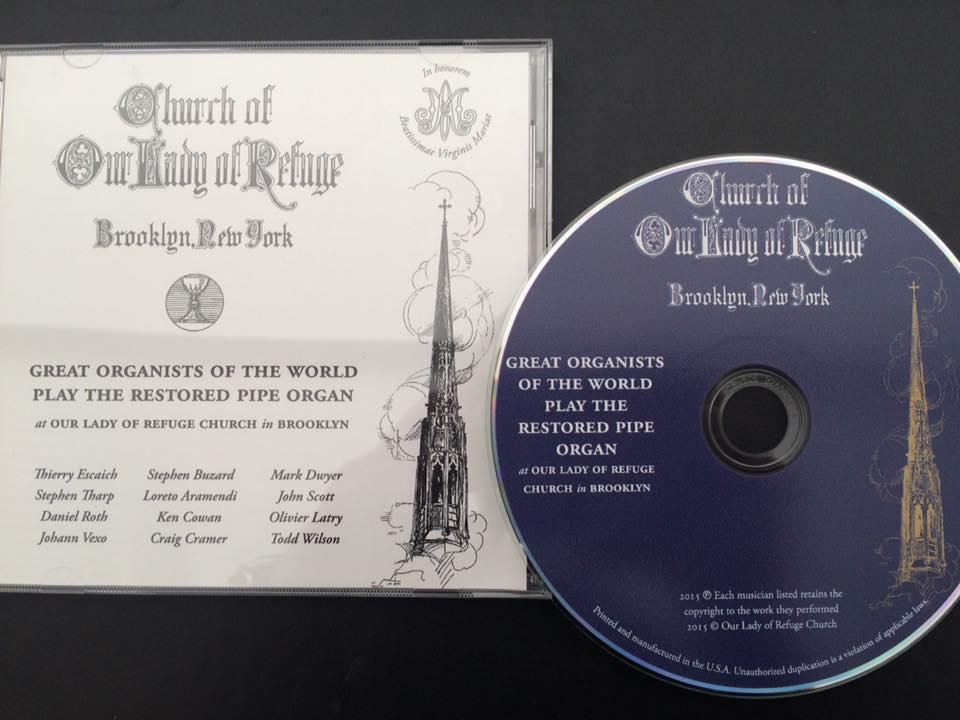CD para agradecer a los benefactores de la restauración del órgano - Brooklyn - NYC