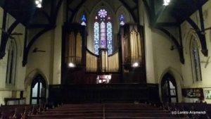 Fachada órgano Forster & Andrews (1882) - Iglesia Metodista - Buenos Aires