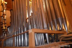 Interior del órgano - San Vicente de la Barquera