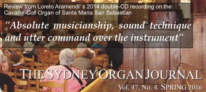 Critique du double CD par «The Sydney Organ Journal»