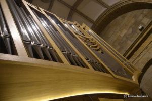 Órgano Acitores - Detalle fachada - Orio