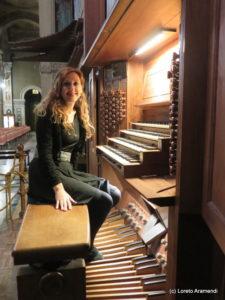Loreto Aramendi at Santa Rita pipe organ, Torino
