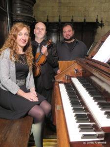 Pedro Miguel Aguinaga - Loreto Aramendi - Pablo Mezzelani al órgano