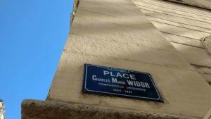 Placa Widor en la placa de la iglesía del órgano Cavaillé-Coll - Lyon