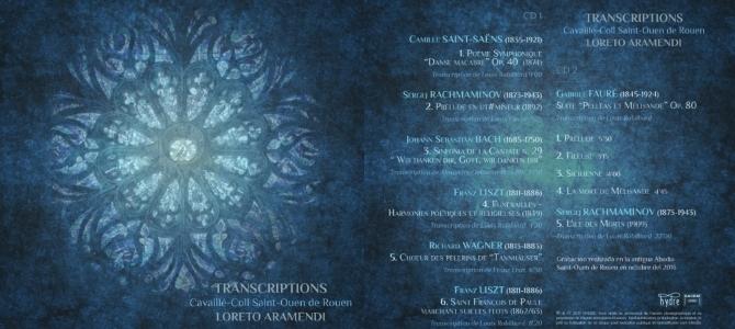 CD «Transcriptions» à l'orgue Cavaillé-Coll de Saint Ouen de Rouen