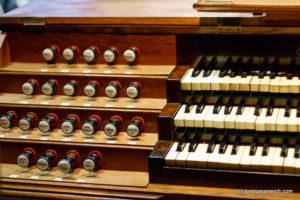 Spanish Aristide Cavaillé-Coll pipe organ - Keyboards- Basilica Santa Maria - San Sebastian - Basque country - Spain