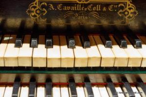Spanish Aristide Cavaillé-Coll pipe organ - Signature- Basilica Santa Maria - San Sebastian - Basque country - Spain