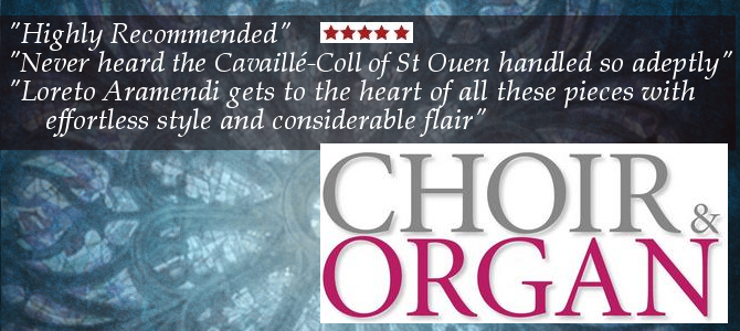 "Choir & Organ, Review5 * of the CD ""Transcriptions"""