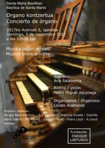 Affiche Concert - Loreto Aramendi