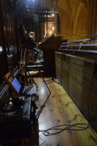 Grabación del concierto de órgano