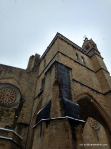 Iglesia San Vicente bajo la nieve - San Sebastian