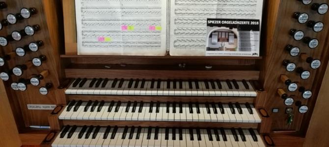 Concert à l'orgue Khun de Spiez – Suisse – Août 2018