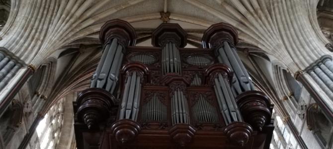 Concierto  al  órgano  Loosemore/Harrisson  en  la  cathedral  de  Exeter  –  Inglaterra  –  Agosto  2018