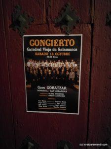 Salamanca - Coro Goratzar