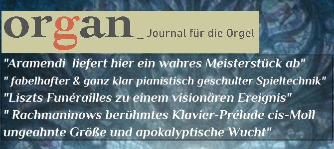 """Organ – Journal für die Orgel, kritisch CD """"Transcriptions"""""""
