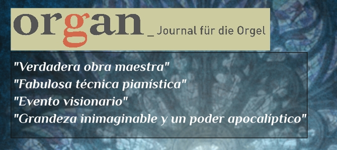 "Organ  –  Journal  für  die  Orgel,  crítica  del  CD  ""Transcriptions"""