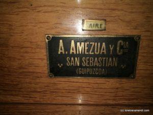 Firma del órgano Amezua