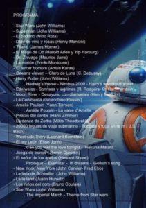Programa del concierto de Tolosa
