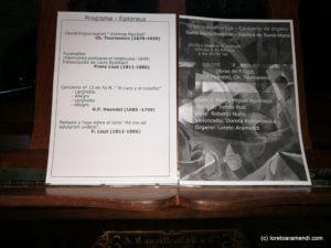 Programa del concierto