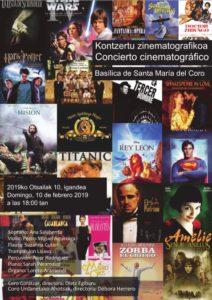 Cartel del concierto de música de películas